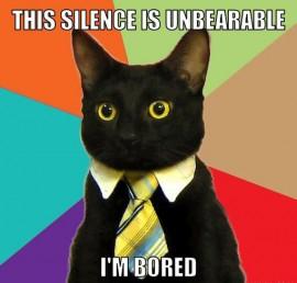Silence is a statement that is open to gross misinterpretation.
